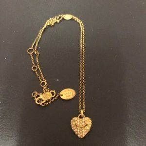 Juicy Couture heart shaped necklace